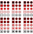 Big set of stop signs vector image