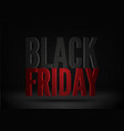 black friday sale social media post template vector image