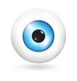 blue sky eyeball icon realistic style vector image