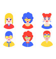 boys and girls avatars vector image