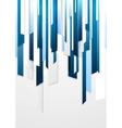 Bright corporate blue striped design vector image vector image
