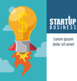 Business start up design vector image