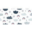 childish seamless pattern with minimalistic clouds vector image vector image