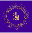christmas seasonal sale half the price vector image vector image