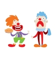 Clown character cartoon vector image