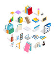 cognition icons set isometric style vector image vector image