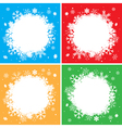 color winter backgrounds with white snowflakes vector image