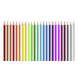 coloring pencils set realistic isolated vector image