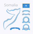 Colors of Somalia vector image vector image