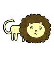 comic cartoon lion vector image
