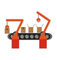 Conveyor belt factory industry icon vector image vector image
