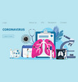 coronavirus concept for landing page vector image vector image