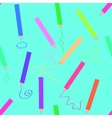 Crayons seamless vector image vector image