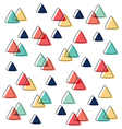 curve triangle pattern pastel and line overlap vector image vector image