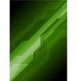 Dark green abstract tech background vector image vector image