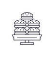 dessert line icon concept dessert linear vector image vector image