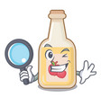 detective apple cider isolated with mascot vector image vector image
