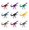 dinosaur gallimimus icon in black style isolated vector image vector image