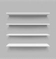 empty white shop shelf isolated on transparent vector image