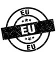 eu black round grunge stamp vector image vector image