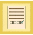 flat shading style icon checklist questionnaire vector image vector image