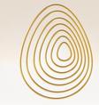 Golden wire egg multicontour