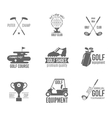 Golf label set vector image vector image