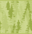 green pine tree forest seamless pattern background vector image vector image