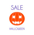 halloween sale pumpkin minimal poster vector image vector image