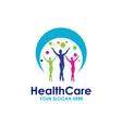 health care logo template design vector image