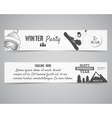 Holiday Identity templates Christmas banner vector image vector image