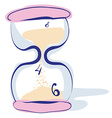 Hourglass sandglass sand timer sand clock isolated vector image