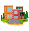 isolated city town building vector image
