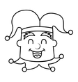 jester joker character isolated icon vector image vector image