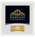letter l logo design concept royal luxury gold vector image vector image