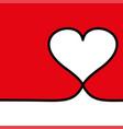 line heart icon love symbol valentines vector image vector image