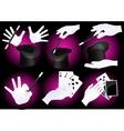 Magician hands vector image
