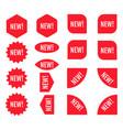 new sticker set red promotion labels modern flat vector image