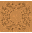 old pattern - dark vintage background vector image vector image