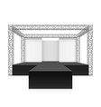 Outdoor festival stage podium metal truss system