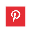 pinterest icon design vector image