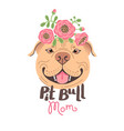 pit bull mom image happy mother dog american vector image
