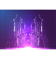 purple blue light futuristic technology vector image vector image