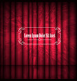 red abstract curtains and vintage frame withspace vector image vector image
