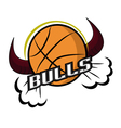 retro bulls logo vector image vector image