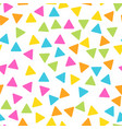 seamless abstract geometric pattern of triangles vector image