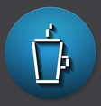 Single cup of tea or coffee icon vector image