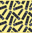 speaker seamless pattern on yellow background vector image