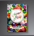 summer party flyer design vector image vector image