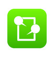 tablet chatting icon digital green vector image